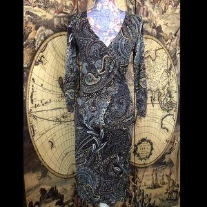 Karen Kane paisley midi dress